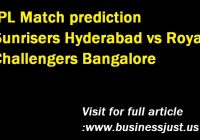 IPL Match prediction Sunrisers Hyderabad vs Royal Challengers Bangalore